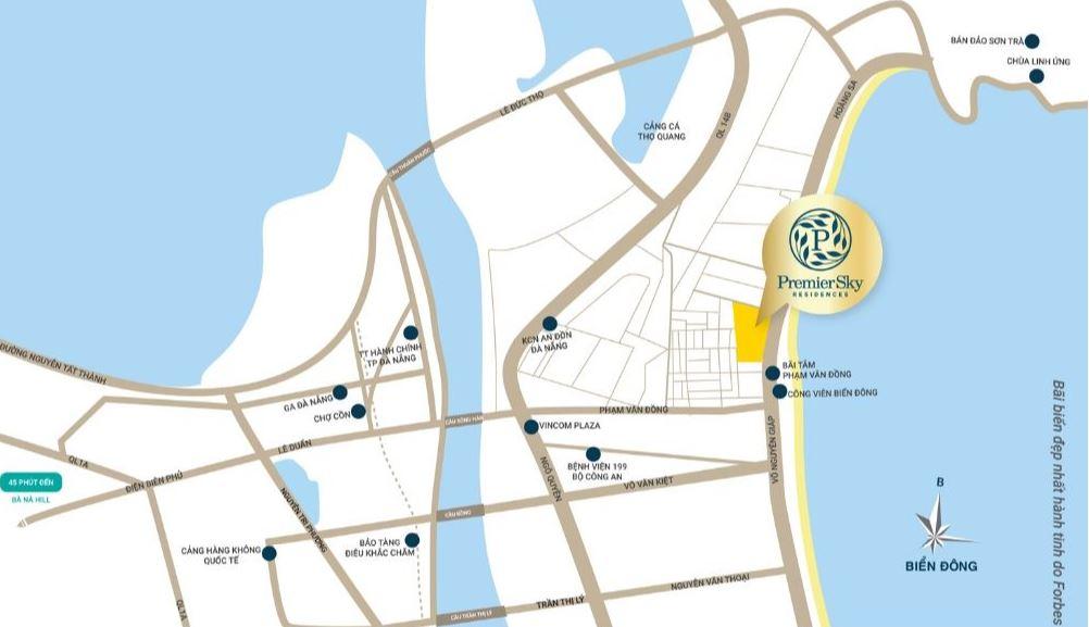 Vị Trí chung Cư Premier Sky Residences Đà nẵng
