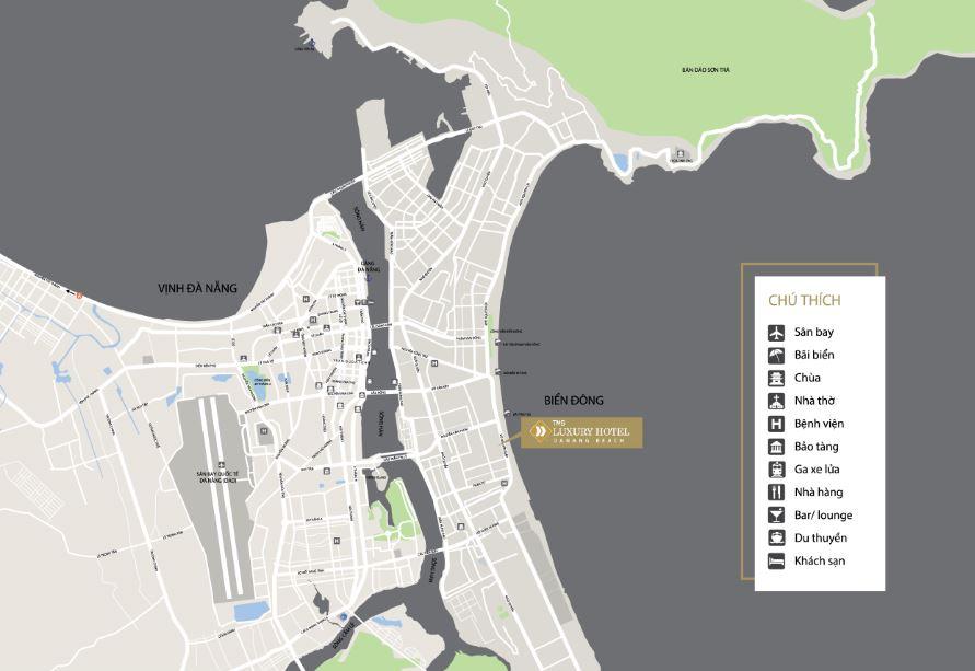 Vị trí căn hộ condotel TMS Luxury Đà nẵng beach