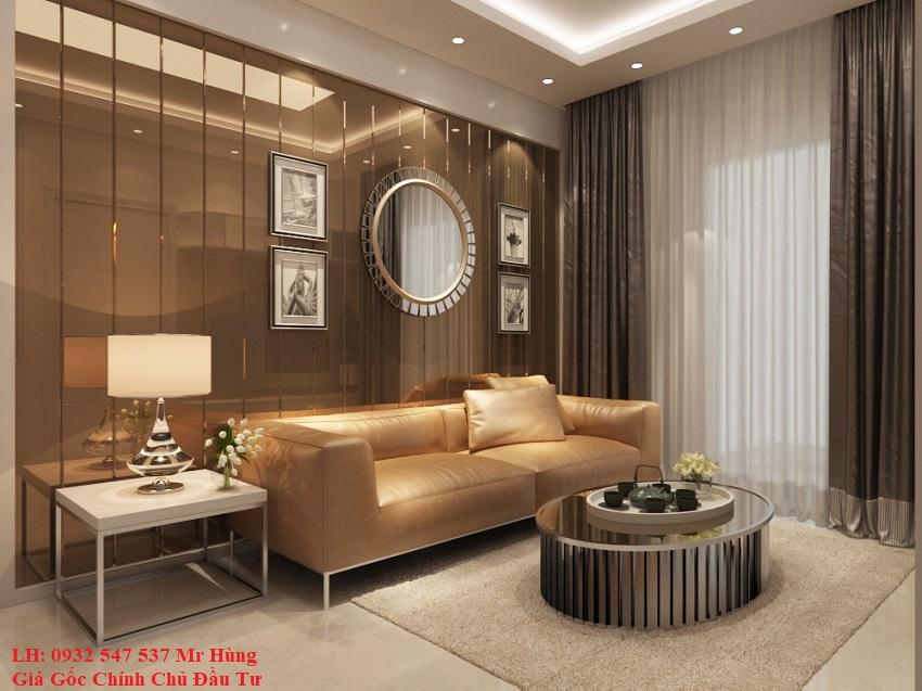 Phòng khách căn hộ monarchy đà nẵng