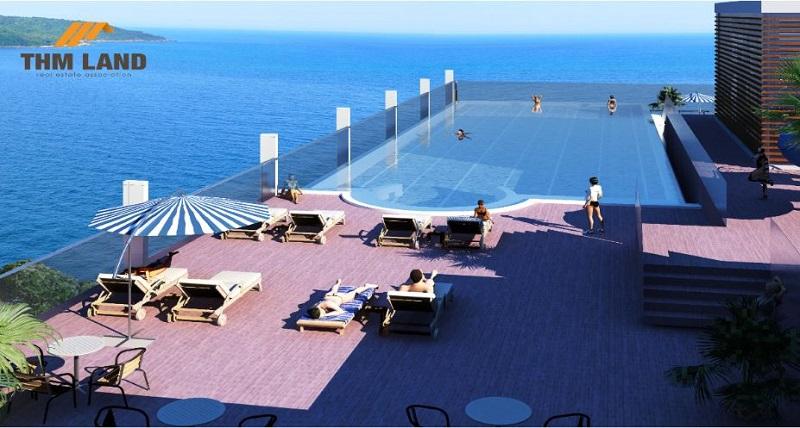 Bể bơi vô cực căn hộ premier sky residencestầng 38