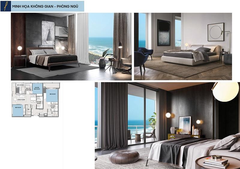 Không gian phòng ngủ Căn Hộ Premier Sky Residences Đà Nẵng