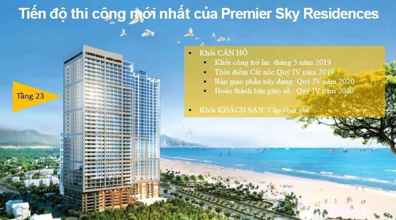 Tiến độ xây dựng Premier sky residences đà nẵng