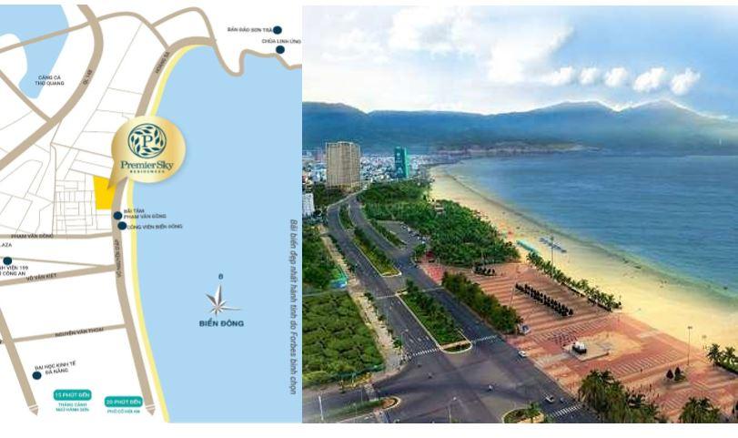 Vị trí Căn Hộ Premier Sky Residences Đà Nẵng