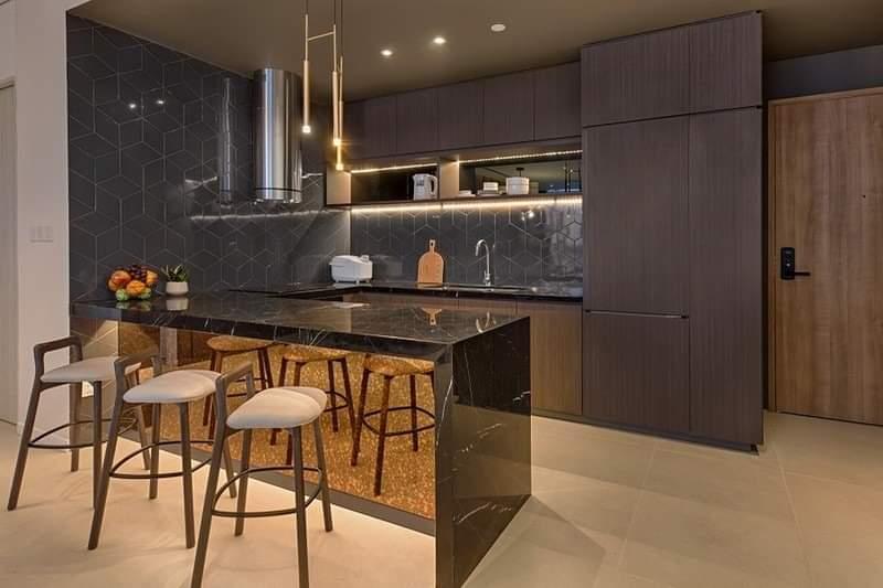 Phòng bếp căn hộ Risemount đà nẵng