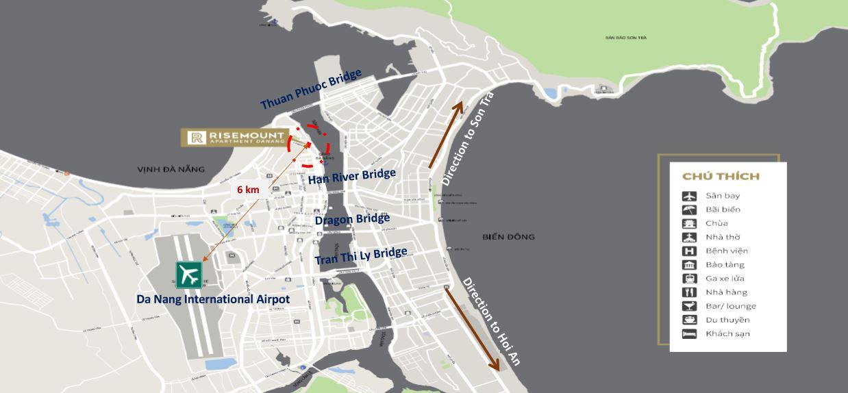 Vị trí dự án căn hộ risemount đà nẵng