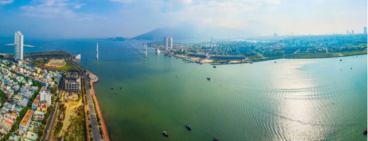View Hướng Đông Bắc, Cầu Thuận Phước, Sông hàn, Biển Đông