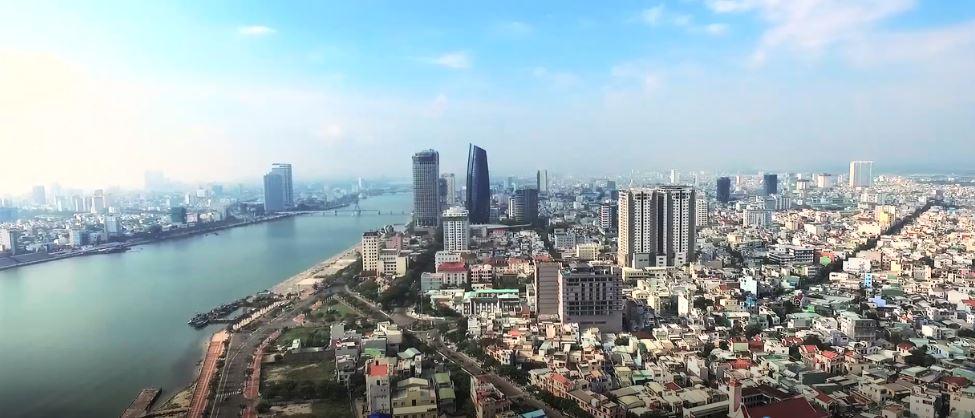 Hướng Đông Nam Cầu Sông Hàn, Trung Tâm hành chính thành phố, Sông hàn.