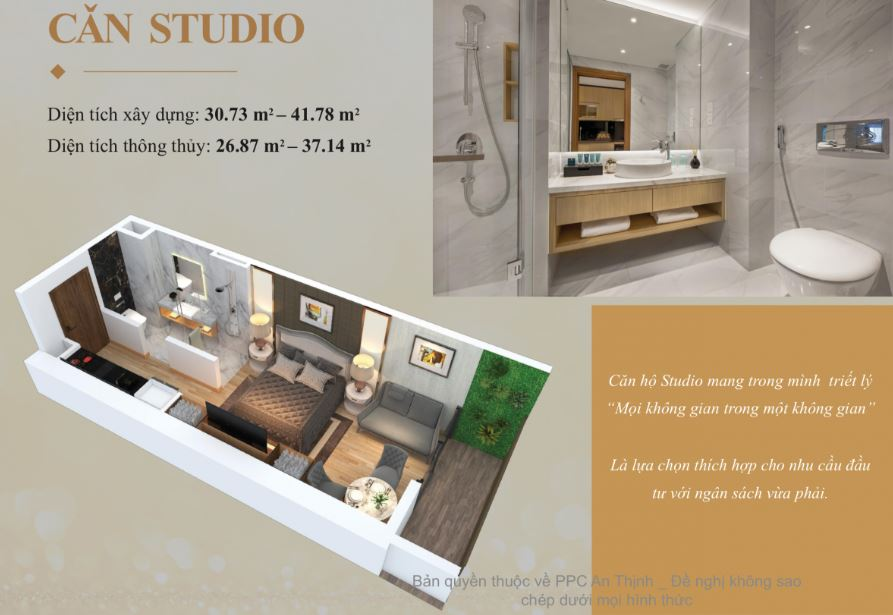 Căn Hộ Studio Tòa Numbus Wyndham Soleil Đà Nẵng