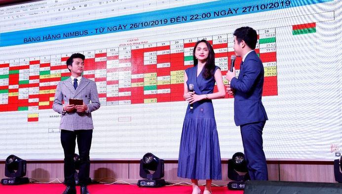 Hoa hậu Hương Giang tại lễ giới thiệu dự án Wyndham Soleil Danang.