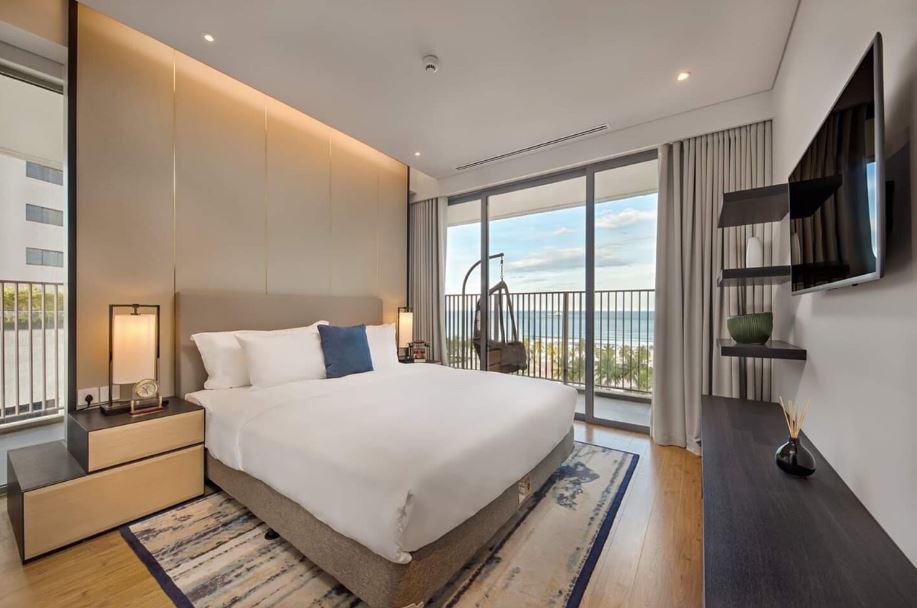 Phòng ngủ căn hộ wyndham soleil đà nẵng