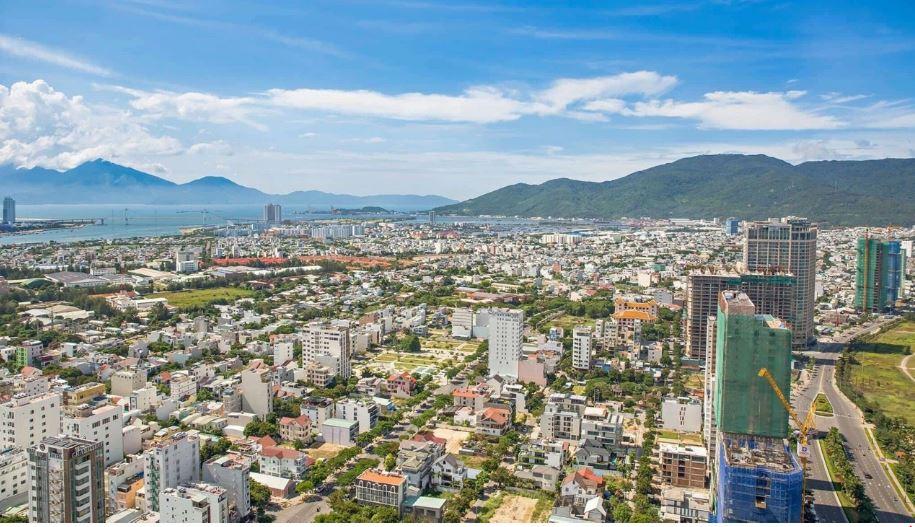 View Hướng Tây Bắc Cầu Thuận Phước Sông Hàn Bán Đảo Sơn Trà