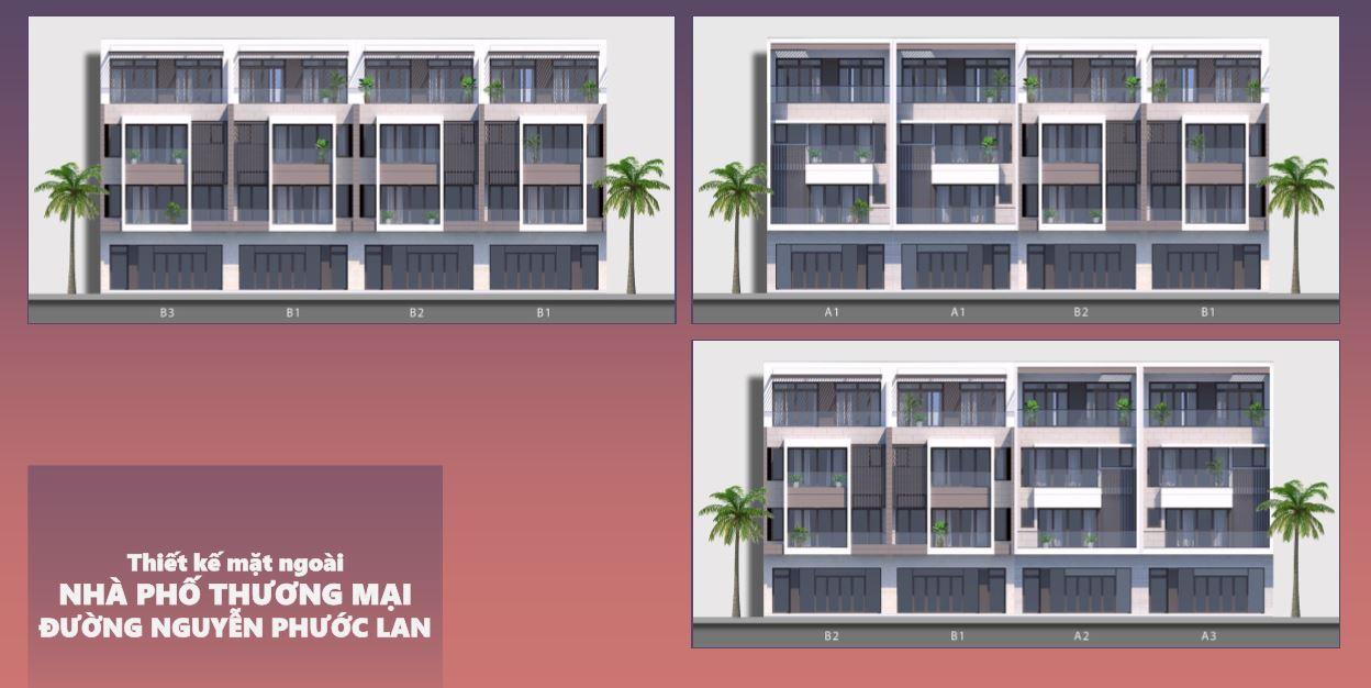 Phối Cảnh Mặt Trước Nhà Phố Nguyễn Phước Lan