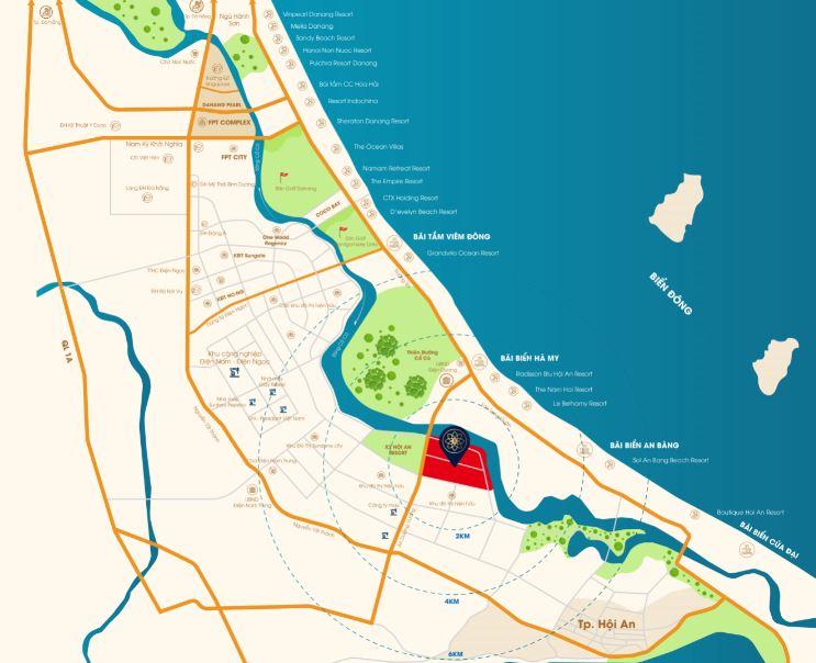 Vị trí dự án Đất nền Rosa Riverside Complex Đà Nẵng Hội An