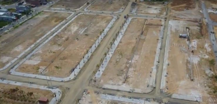 Các lô đất được phân chia theo đường quy hoạch dự án dragon smart