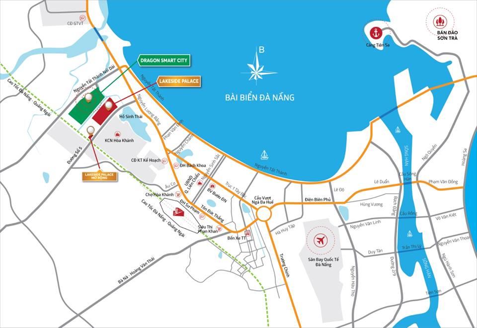 Sơ đồ các khu vực liển kết dự án Dragon Smart City