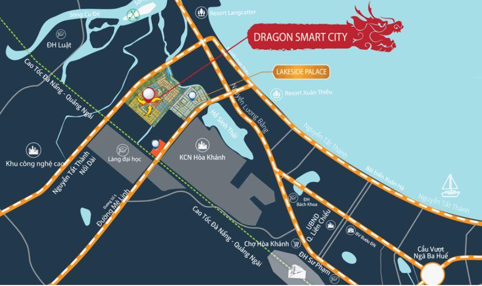 Vị trí dự án draon smart city đà nẵng