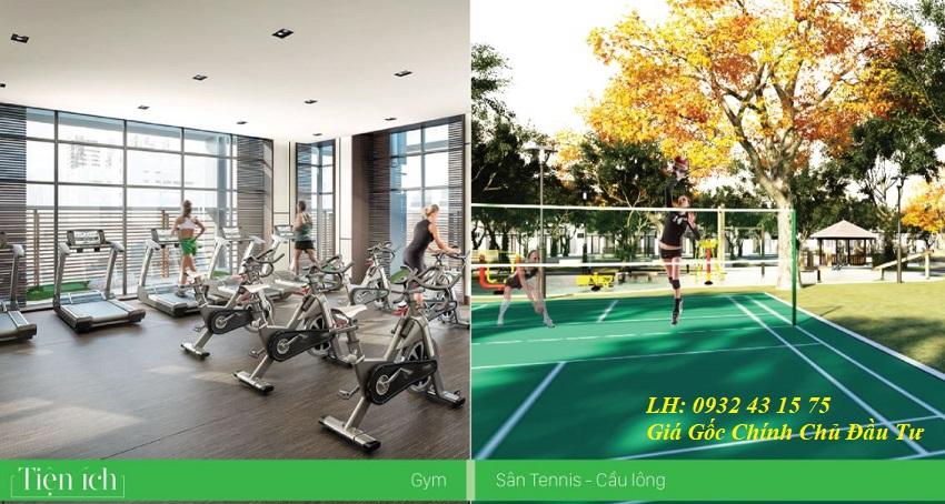 Phòng tập Gym và sân chơi thể thao khu đô thị Lakeside