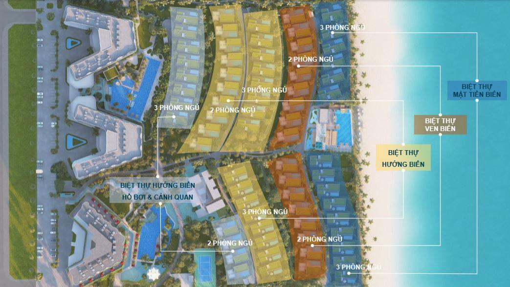Mặt bằng phân lô biệt thự dự án shantira beach resort spa hội an