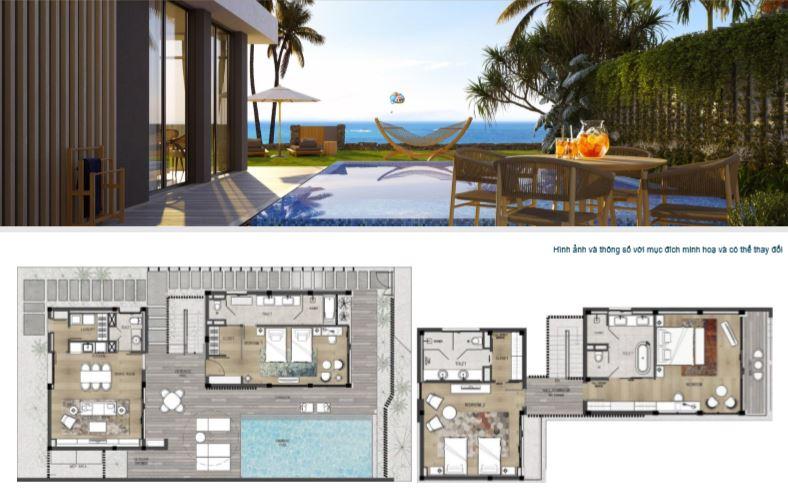 Mẫu biệt thự 3 phòng ngủ view biển Shantira Beach Resort