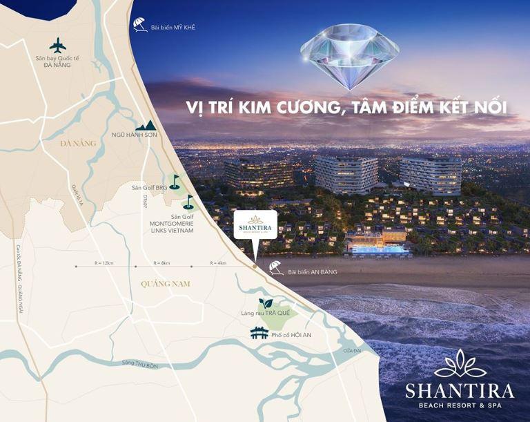 Vị trí dự án căn hộ shantira beah resort spa hội an
