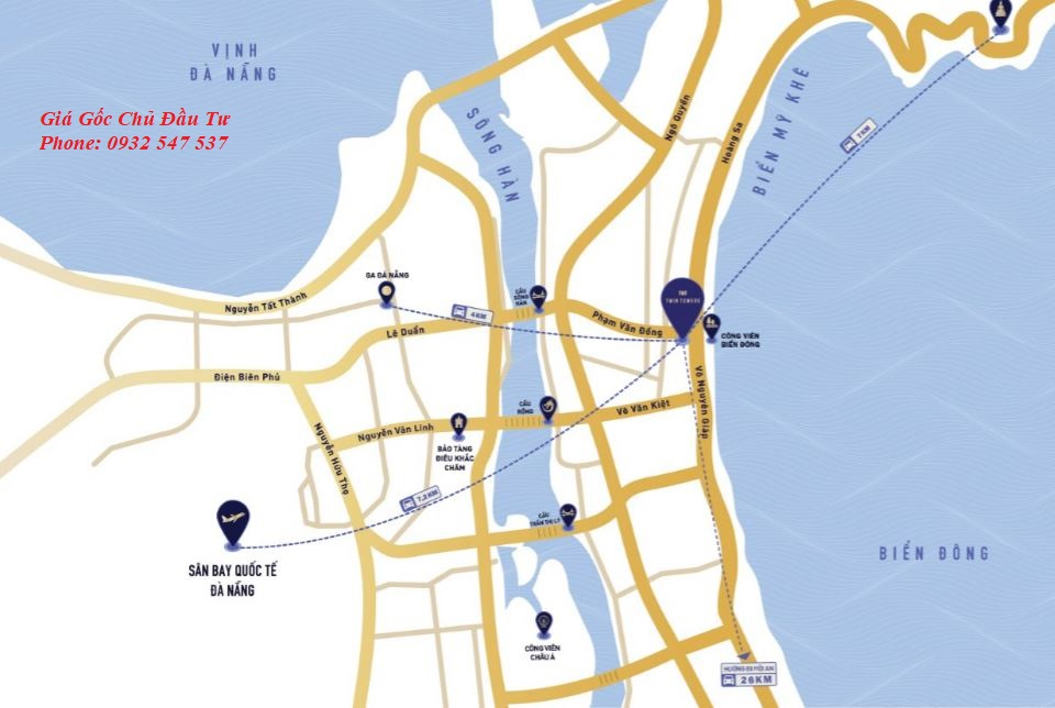Vị trí dự án Twin Towers Đà Nẵng